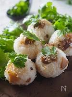 ザーサイとごま油の中華風オイルおにぎり#お弁当