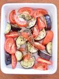 トマトとナスのローズマリー焼き