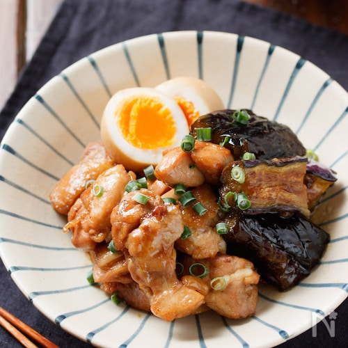 鶏肉となすの甘辛照り煮【#簡単#お弁当#作り置き】