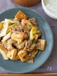 『豚肉と長ねぎと豆腐の生姜焼き風炒め』#簡単#ご飯がススム