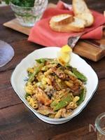 まいわしと茹で野菜のスパイシーサラダ