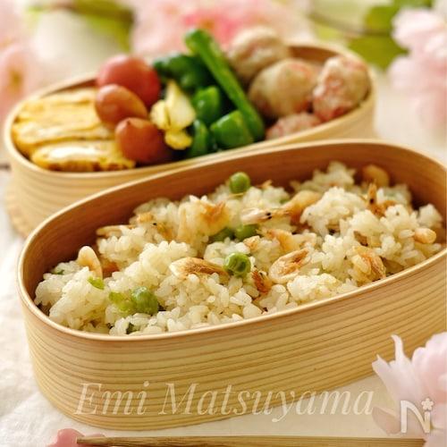 *桜えび入り豆ごはん*春のお弁当に◎行楽に◎