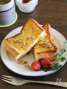 オーブンで焼くサンドフレンチトースト(スイーツver.)
