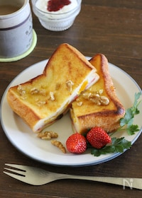 『オーブンで焼くサンドフレンチトースト(スイーツver.)』