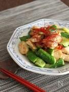 きゅうりと鶏肉のスタミナ炒め♪【 #食材2品】