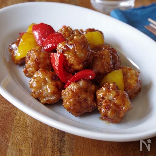 鶏と豆腐のジューシー肉団子の甘酢あん<アレンジ>