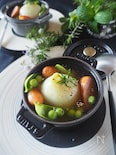 【レンジで簡単】新たまねぎとウインナーの丸ごとスープ