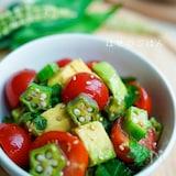 美肌サラダ♪『夏野菜の青じそねばねばサラダ♪』
