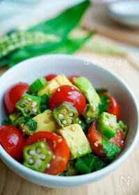 『美肌サラダ♪『夏野菜の青じそねばねばサラダ♪』』