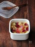 さつまいもとりんごのレモン煮。