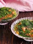 モロヘイヤとトマトの冷製スープ【 #食材2つだけ】