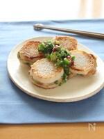長芋の納豆つくねはさみ焼き 梅おくらだれ