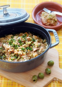 『【無水調理】重ねて煮るだけ、地中海風オリーブ煮』