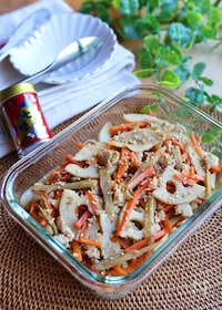 『優しい味*根菜と鶏そぼろのきんぴら』