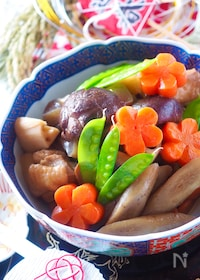 『【基本のおせち料理】ひと鍋で簡単!筑前煮〈調味料ALL同量〉』