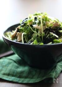 『豆苗と鶏ささみの韓国風サラダ【簡単!シャキシャキ感】』