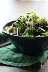 豆苗と鶏ささみの韓国風サラダ【簡単!シャキシャキ感】