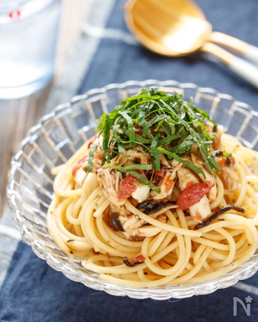 和風もトマトベースもたまらない♩鶏ささみのパスタレシピ20選!の画像