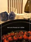 Vine tomatoes with pesto
