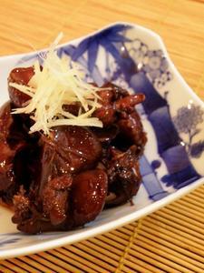 鶏レバーのはちみつ生姜赤ワイン煮