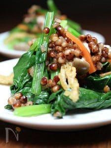 高きびと小松菜の和え物