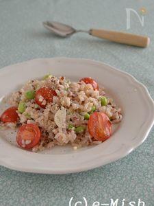 トマトと枝豆の塩糀リゾット