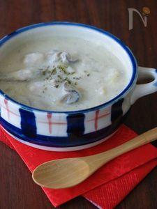 牡蠣の豆乳シチュー