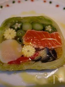 野菜と魚介のテリーヌ