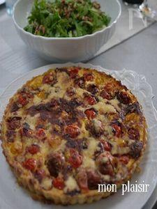ミニトマトのキッシュ