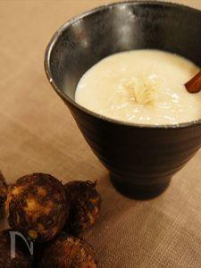 里芋と長ねぎのふんわりジンジャースープ