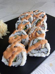 スパイシーツナロール寿司❤