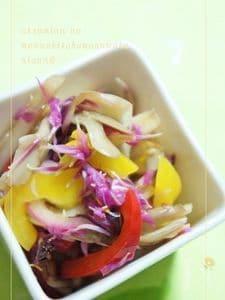 もって菊の簡単ポリフェノールサラダ