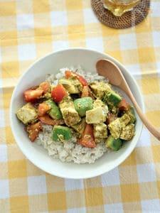 アボトマ豆腐の混ぜるだけ&非加熱カレー
