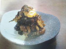 打ち豆ときざみ高菜の油炒め
