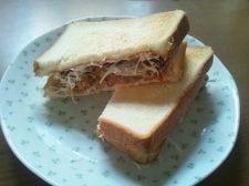 ひよこ豆のサンドイッチ