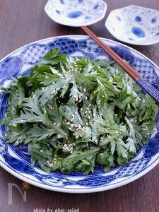 生春菊のナムル風サラダ