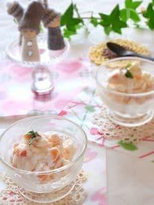 【適糖生活】柿のフローズンヨーグルト