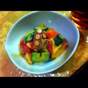 蛸とシャキシャキ野菜の黄身酢和え