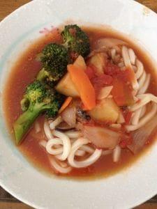 トマトうどんスープ