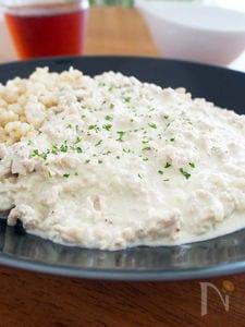 豆乳と鶏挽肉の白いミートソース