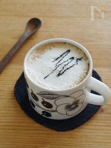 黒ごまの豆乳ラテ