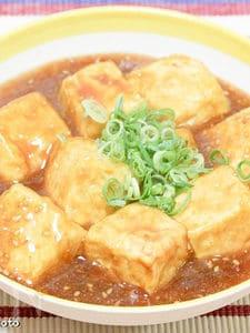 揚げ豆腐の胡麻あんかけ