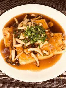豆腐ステーキ 中華風きのこあんかけ