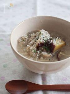 さつまいもと舞茸のクリームスープ