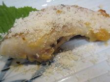 鯛の味噌漬けにパルミジャーノレッジャーノ