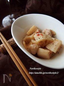 鶏とれんこんの中華風レンジ蒸し