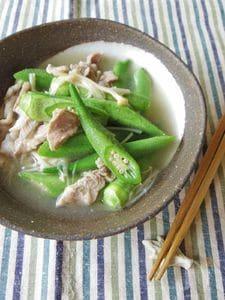 わさび風味。おくらとえのき茸の煮びたし(夏の養生ごはん)
