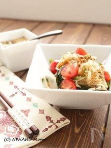 切り干し大根とわかめのピリ辛サラダ