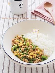 スピード疲労回復レシピ。中華風3色そぼろご飯