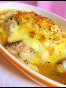 サバ水煮缶の簡単チーズ焼